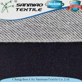 Tissu 100% de denim d'ouatine de coton du marché de tissu de la Chine