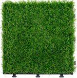 Стандарт Ce блокируя напольную декоративную искусственную плитку травы для сада