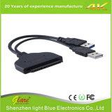 "USB 3.0 SATA 22pin zu den Daten erhöhte Energien-Kabel-Adapter für 2.5 "" Zoll"