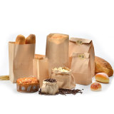 Fast Delivery Food Grade Brown Kraft Bolsas de papel para alimentos