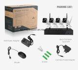 kit de 4CH P2p Xm 720p WiFi NVR con las cámaras impermeables al aire libre de WiFi