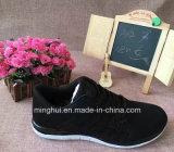 Chaussures de marque d'espadrilles de chaussures de course de Knit de mouche