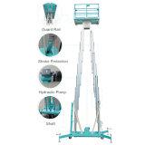 elevador hidráulico do mastro da capacidade dos 10m 200kg para a manutenção ao ar livre
