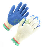 2017 Safety 10g Hands Protective Work String Knitted Latex Gloves