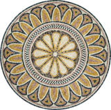 自然な石造りの大理石のウォータージェットの円形浮彫りの象眼細工のモザイク模様
