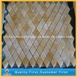 Mosaico beige/giallo caduto del travertino per la decorazione della parete della stanza da bagno