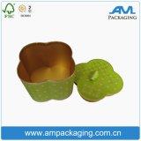 Forma de la flor de oro de lujo redondo de la caja cajas de embalaje para Tubo de belleza