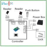 Programa de lectura negro de la puerta RFID del control de acceso del color de la identificación 125kHz Wiegand 26 Wiegand 34 del Em