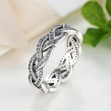 Bague de diamants en argent sterling 925 Sterling 2017
