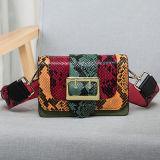 Form-Marken-Handtaschen-Schlange-Haut-echtes Leder-Schultertote-Beutel Emg4776