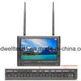 Dual 32 a canaleta 5.8GHz o monitor video de 7 polegadas, nenhuma tela azul