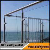 Aço inoxidável 304 varanda de vidro ferroviário