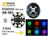 Luces ligeras de la tarjeta/de navegación del círculo X8-16V 7-Color de Matek RGB LED