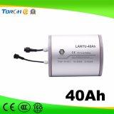 изготовление батареи Li-иона уличного света 11.1V 40ah солнечное