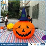 Gigante de la decoración de Halloween inflable luz de la calabaza para la venta