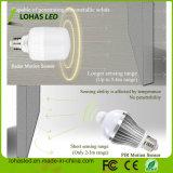지능적인 점화 E27 B22 T60 T80 12W 15W 20W 일광 백색 레이다 운동 측정기 LED 전구