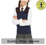 Constructeur chaud de gilet de Sleevesless de filles de chandail frais d'uniforme scolaire