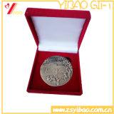 Cadeau fait sur commande de souvenir de médaille/médaillon de pièce de monnaie d'alliage de Zin de sport de logo (YB-HR-61)