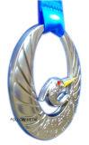 Médaille de récompense pour le pays en travers avec le logo du cygne 3D