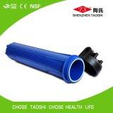 Venta al por mayor shell del filtro de agua azul de 20 pulgadas