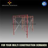 Échafaudage de bâti de construction pour le support concret
