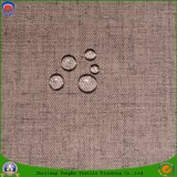 Домашним полиэфир сплетенный драпированием ткани тканья Linen водоустойчивый Fr Flocking ткань для занавеса и софы