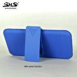 Efecto del modelo de la raya de Shs con el clip 2 de la correa en 1 caja del teléfono celular de la PC para el iPhone 7 más