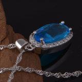 Koper 3 van de manier de PCs Geplaatste Kleurrijke Juwelen van de Halsband van de Nauwsluitende halsketting van de Oorring van de Ring van Zircon van de Diamant van het Kristal