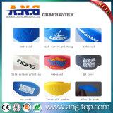 Wristbands descartáveis de Tyvek RFID para eventos/bracelete forte do hospital RFID