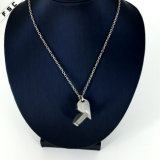 Tegenhanger van de Halsband van het Kristal van het Roestvrij staal van het hart de Verwijderbare voor Unisex-