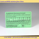 서비스 카드를 위한 플라스틱 카드에 가득 차있는 서명 또는 쓰기 지역