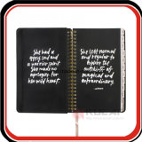 Custom Hindden Spiral Marble Hardcover Notebook Weekly Agenda Book