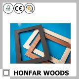 Bâti en bois de photo de cadeau bleu de rectangle