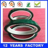 cinta verde de enmascarado da alta temperatura del animal doméstico de 0.08m m