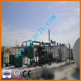 Aceite de motor oscuro usado de la refinería de petróleo inútil que recicla la unidad de producción