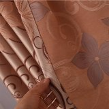 Rideau en guichet d'arrêt total de jacquard de polyester de configuration de Bauhinia (33W0050)