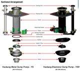 Bomba vertical de alta presión de la mezcla del transporte resistente del tizón