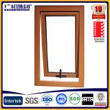 Ventana de aluminio y de madera del toldo del marco con la gafa de seguridad y la pantalla