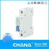mini corta-circuito de 1p+N 63A MCB Dz47-63 con el indicador