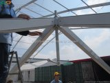 10X10mの結婚式のための装飾が付いている屋外の白PVC塔のテント