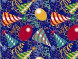 La Navidad popular del uso del partido modela el mantel impreso PVC con el forro
