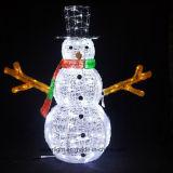 Luz impermeable encantadora y alta del muñeco de nieve de la alta calidad LED de la decoración de la Navidad