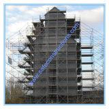 Ce tour d'échafaudage a été conçu pour la construction.