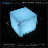 Silla plástica rotatoria material del cubo del club del PE que moldea LED