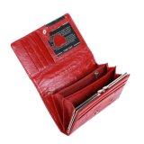 Da carteira de couro feita sob encomenda vermelha grande da pele do crocodilo de Fani couro genuíno