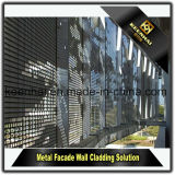 Panneaux perforés fabriqués modernes de façade de feuille en aluminium pour le revêtement de mur