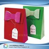 Sac de transporteur de empaquetage estampé de papier pour les vêtements de cadeau d'achats (XC-bgg-016)