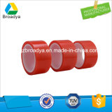 Fodera rossa della pellicola di alta qualità nastro adesivo dell'animale domestico del poliestere dai 100 micron (base solvibile modificata doppio lato)