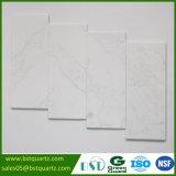 Witte Kunstmatige Countertop van uitstekende kwaliteit van de Steen van het Kwarts met Grijze Aders