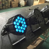 IGUALDAD de interior de DMX512 18X10W 4in1 RGBW LED